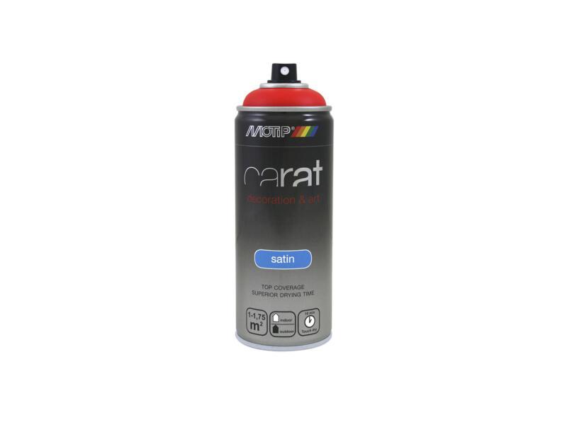 Motip Carat laque déco en spray satin 0,4l rouge signalisation