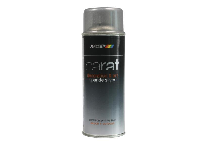 Motip Carat laque en spray pailleté 0,4l argent