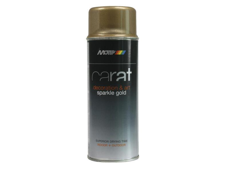 Motip Carat laque en spray pailleté 0,4l or