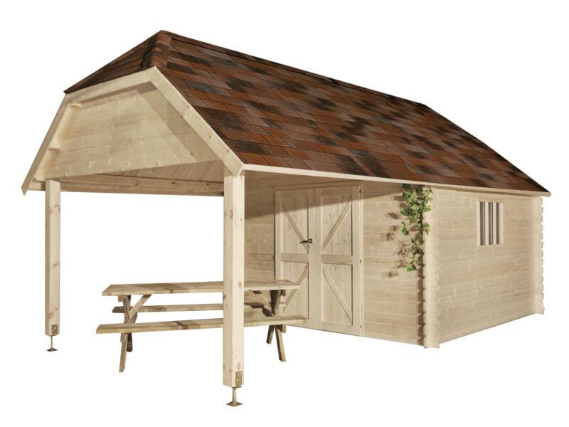 Gardenas Cardiff XL abri de jardin 355x355x341 cm bois + extension
