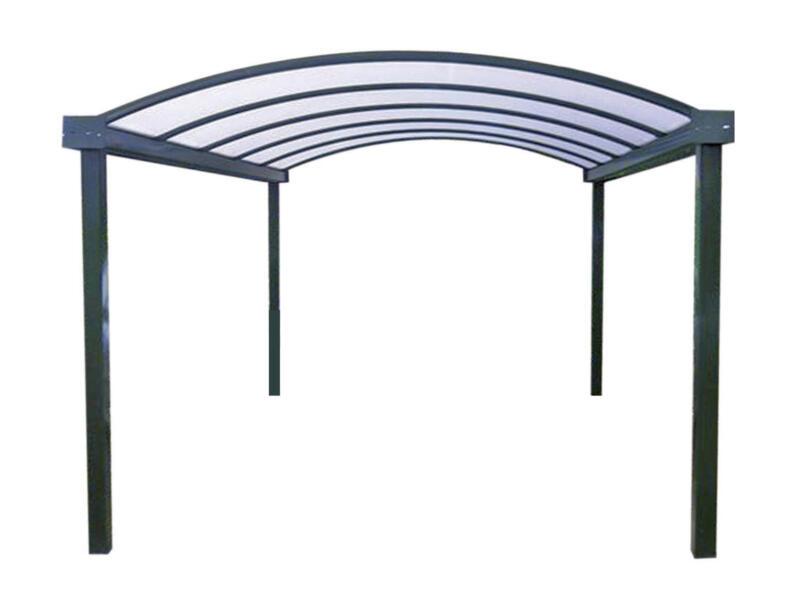 Carport 300x700 cm metaal opaal/antraciet