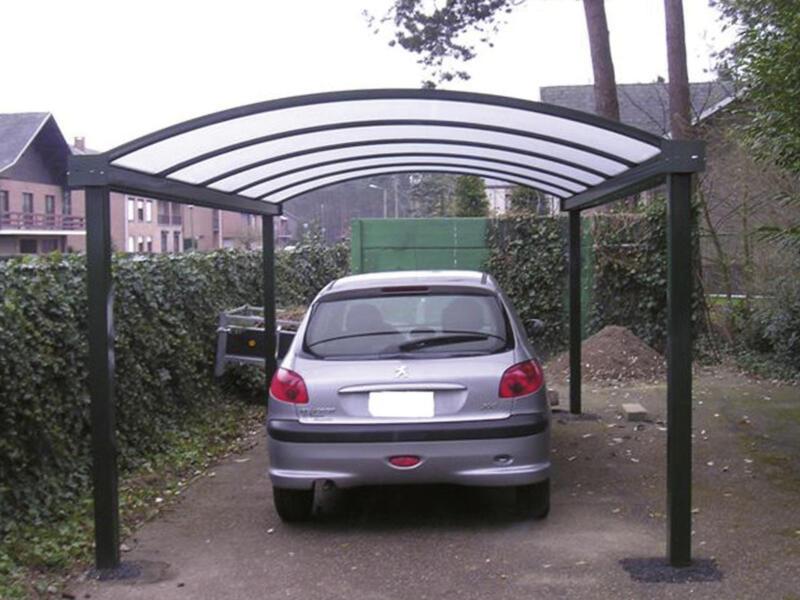 Carport 400x800 cm opalin/métal anthracite