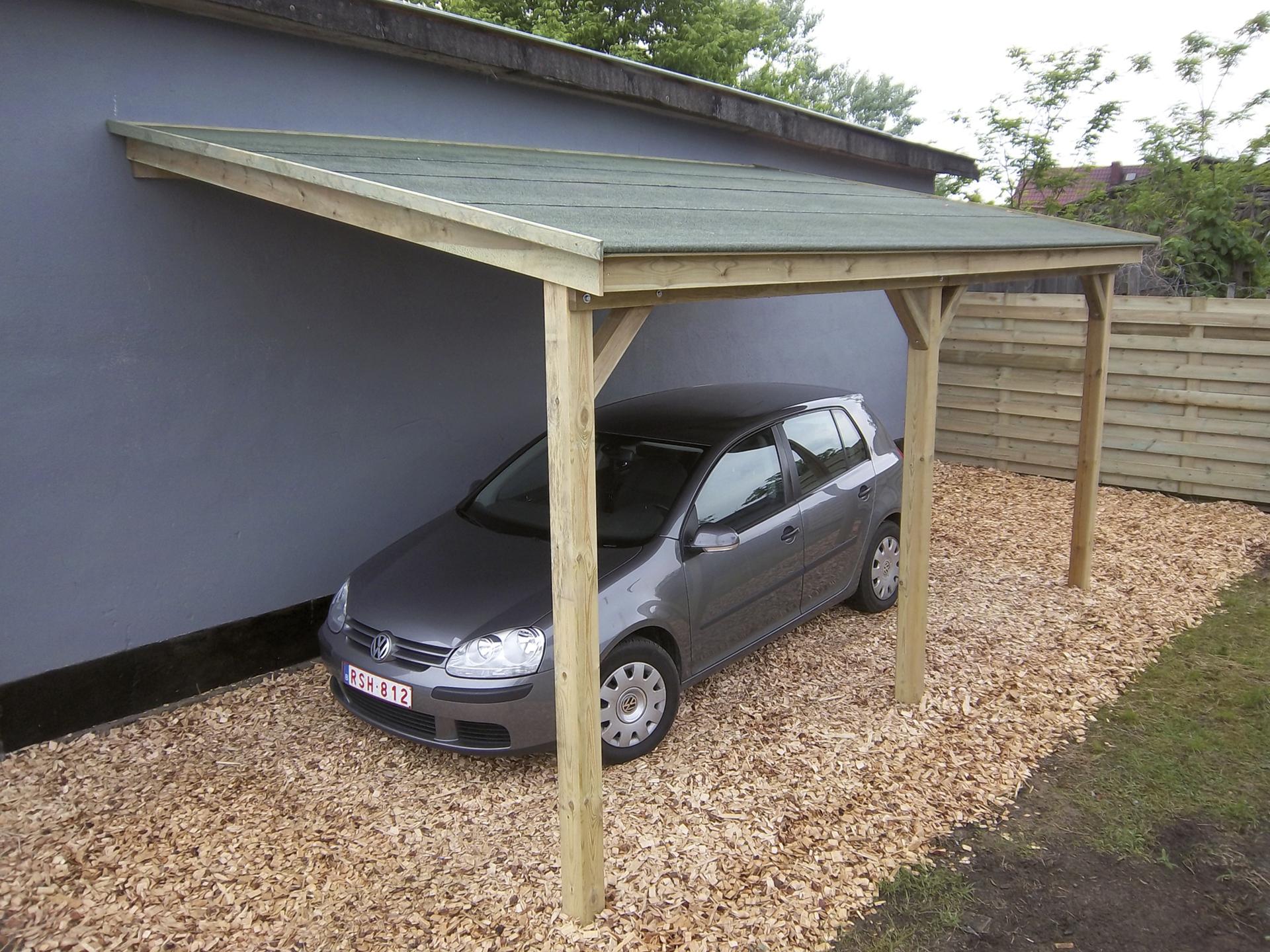 gardenas carport aanbouw 300x500 cm hout hubo