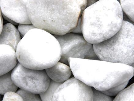 Carrara galets décoratifs 60-100 mm 20kg blanc