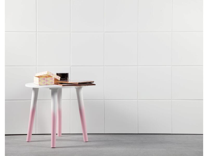 Carrelage mural 20x20 cm 1m² blanc brillant