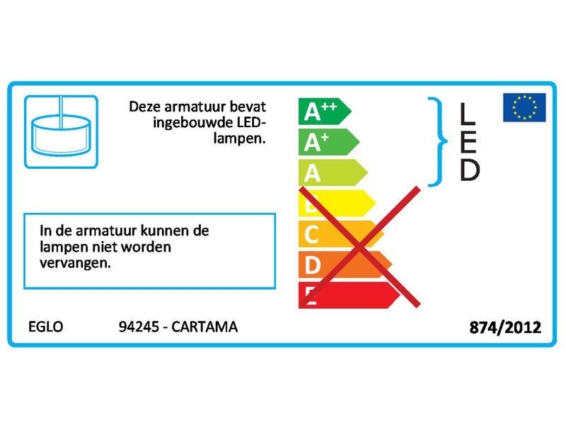 Eglo Cartama LED hanglamp 4x4,5 W chroom/transparant