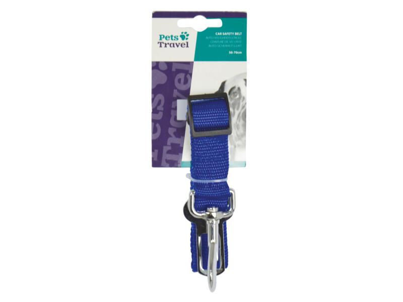 Ceinture de sécurité chien 76cm bleu