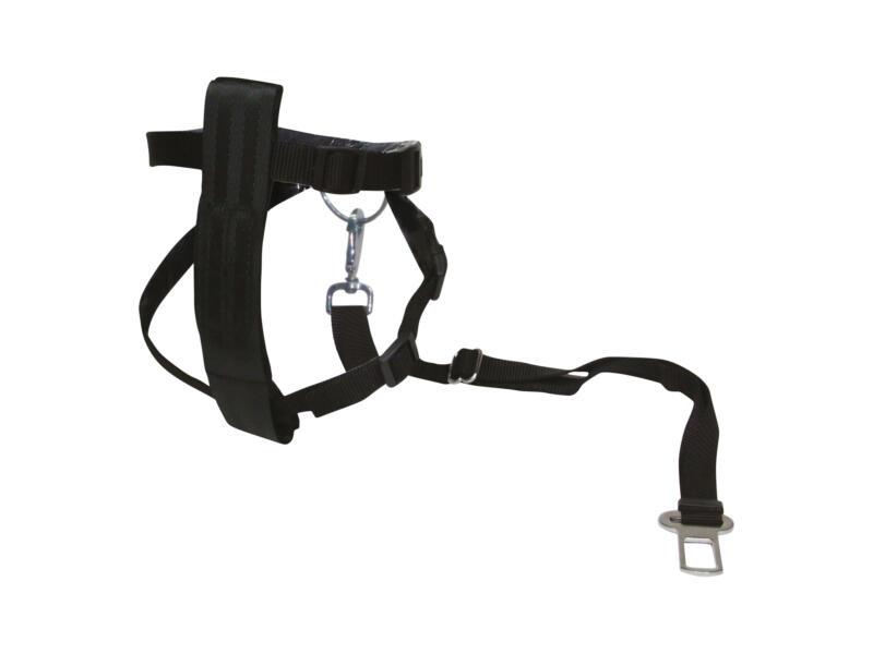 Ceinture de sécurité chien avec harnais 60cm