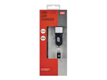 Carpoint Chargeur USB pour voiture 12-24 V 4,8A