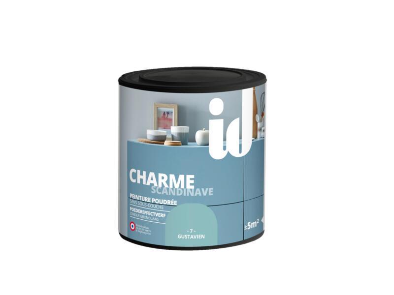 Charme peinture meubles bois et MDF 0,5l bleu gustavien