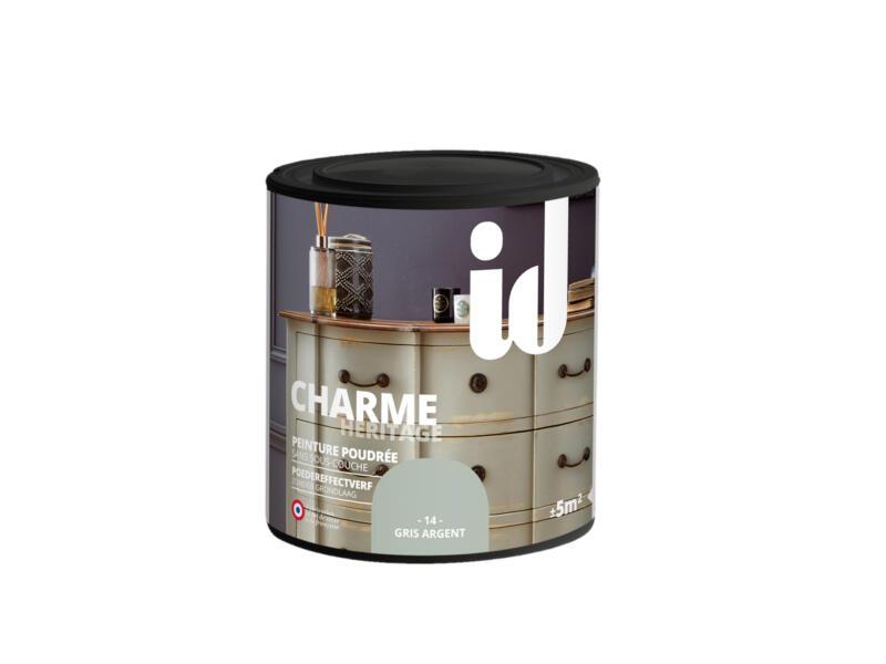 Charme peinture meubles bois et MDF 0,5l gris argent