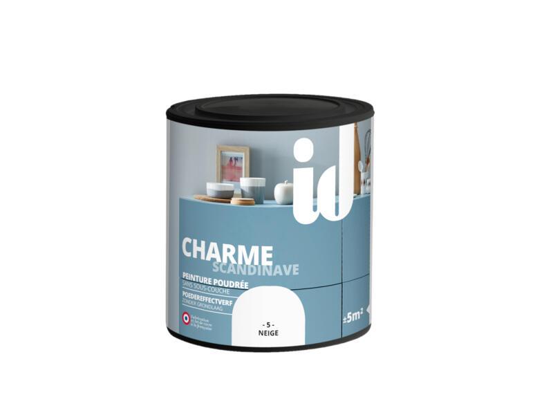 Charme peinture meubles bois et MDF 0,5l neige