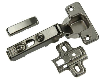 Charnière clip avec plaque croix 11cm