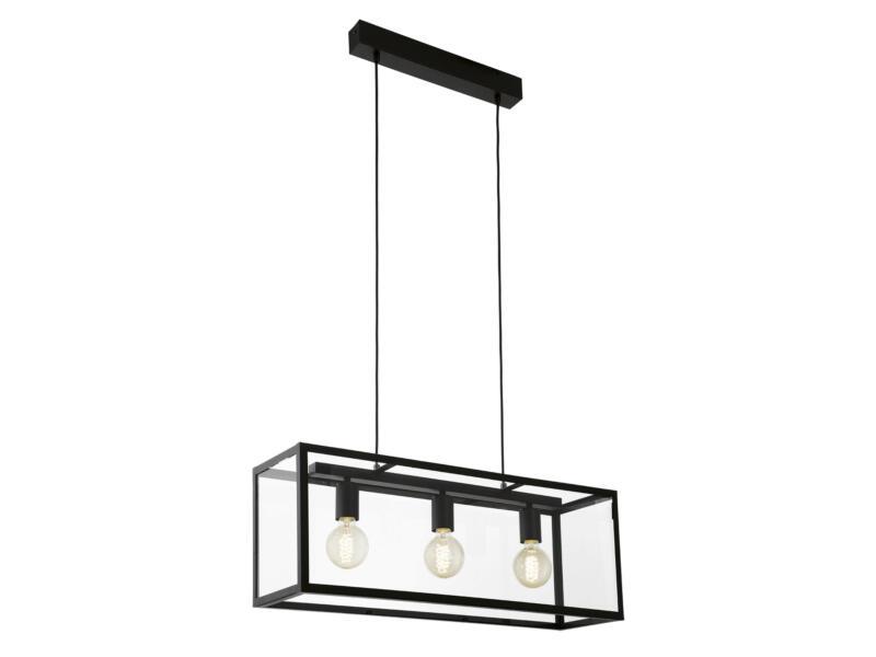 Eglo Charterhouse hanglamp E27 max. 2x60 W zwart