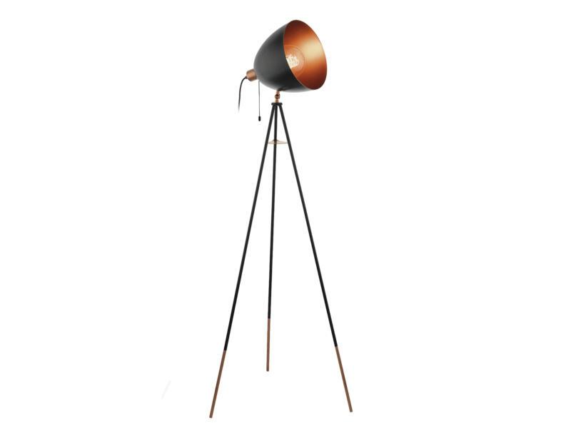 Eglo Chester staanlamp E27 60W zwart-koper