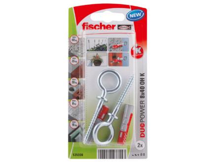 Fischer Cheville avec vis à œil 8x40 mm 2 pièces