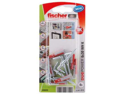 Fischer Cheville avec vis à équerre 6x30 mm 6 pièces