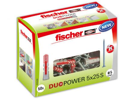 Fischer Cheville universelle Duopower 5x25 mm avec vis