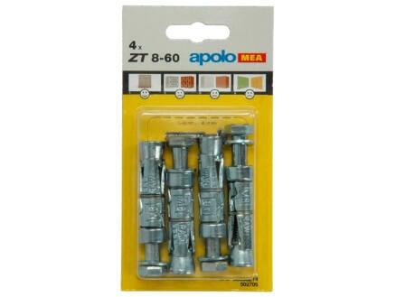 Celo Chevilles à expansion ZT14 8x60 mm 4 pièces