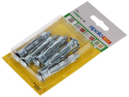 Celo Chevilles pour murs creux HRM6-16 13mm 5 pièces