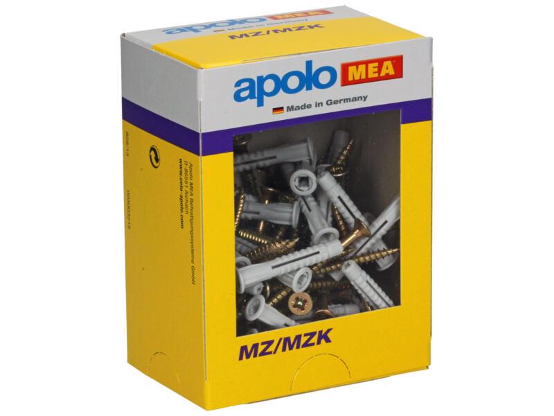 Celo Chevilles universelles avec vis MZ/MZK 6x41 mm 50 pièces