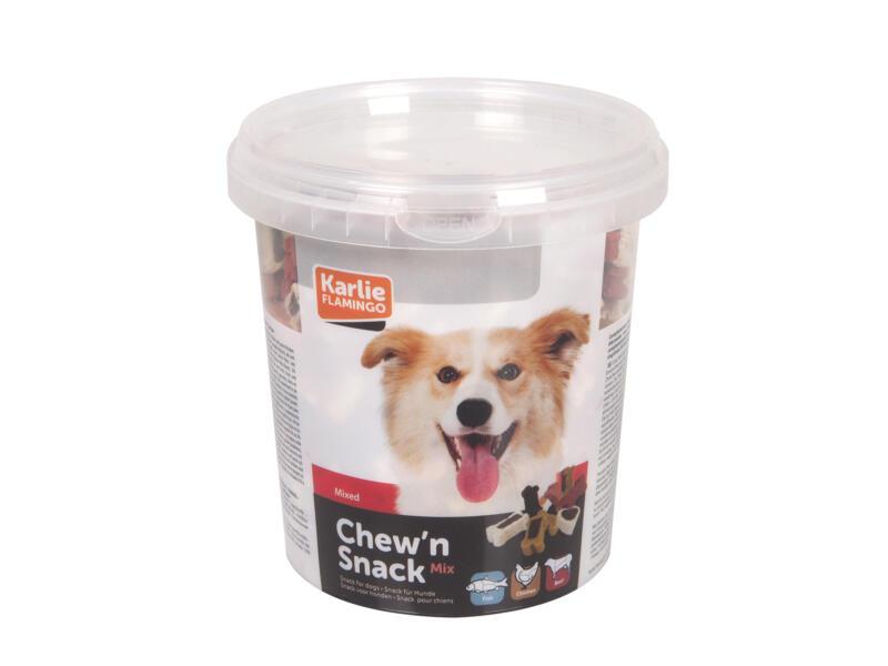 Flamingo Chew'n Snack Mix snack chien 500g