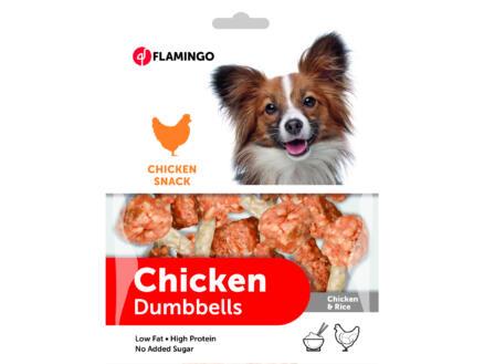 Flamingo Chicken Snack Dumbbels hondensnack kip/rijst 150g