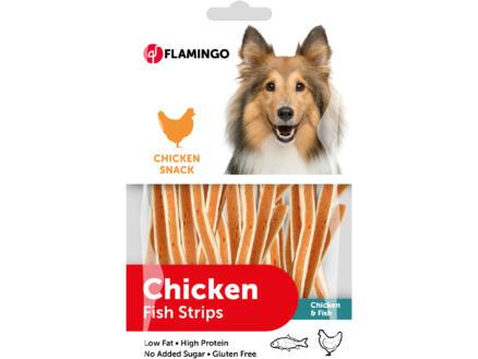 Flamingo Chicken Snack Fish Strips snack chien poulet/poisson 85g