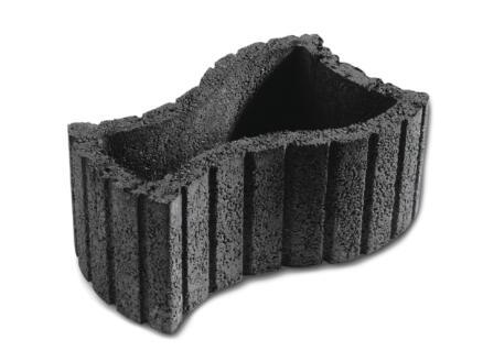 Cinthia bloembak 58,5x35 cm beton antraciet