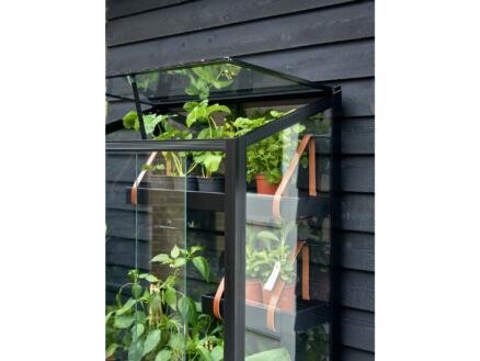 Royal well City Garden balkon serre veiligheidsglas zwart