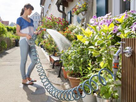 Gardena City Gardening tuyau d'arrosage spirale 10m + pistolet d'arrosage