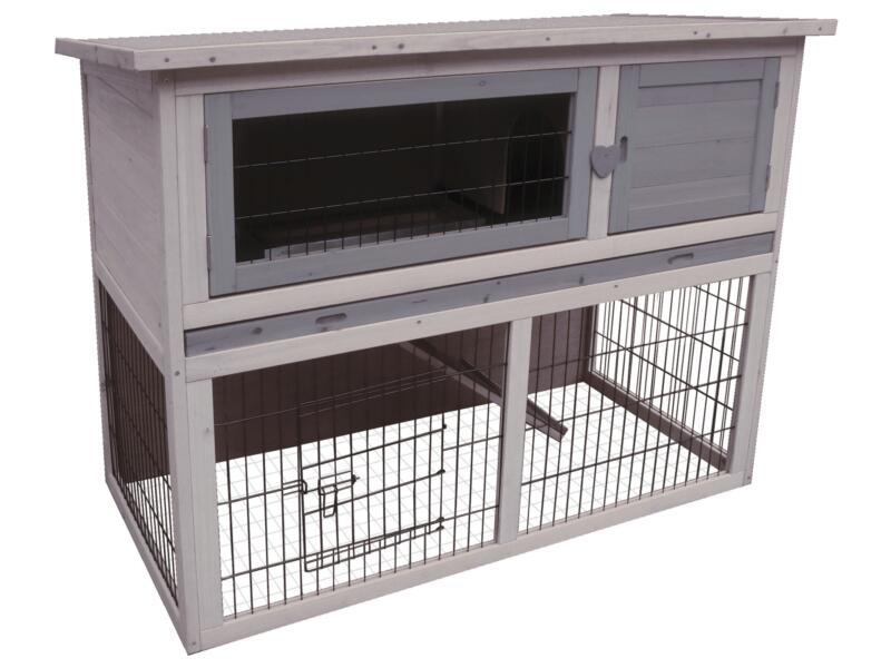 Clapier lapin Duplex Cottage 114x90x60 cm