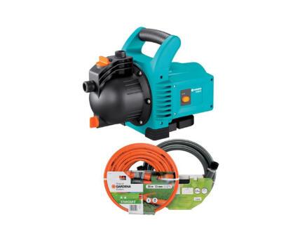 Gardena Classic 3000/4 pompe d'arrosage de surface 600W + tuyau d'aspiration et tuyau d'arrosage