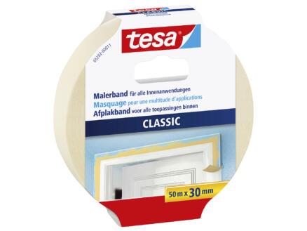 Tesa Classic afplaktape 50m x 30mm beige