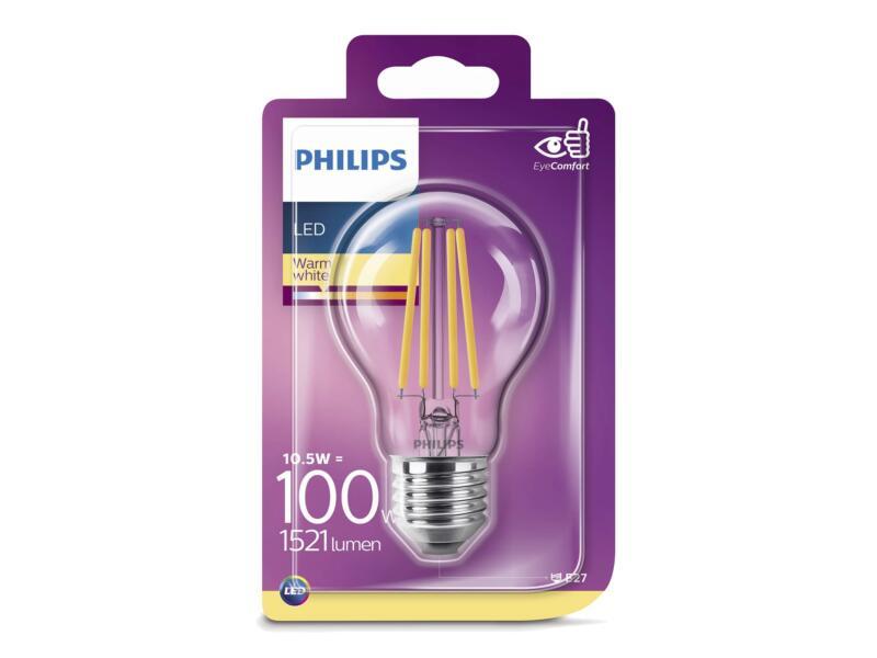 Philips Classic ampoule LED poire filament E27 11W