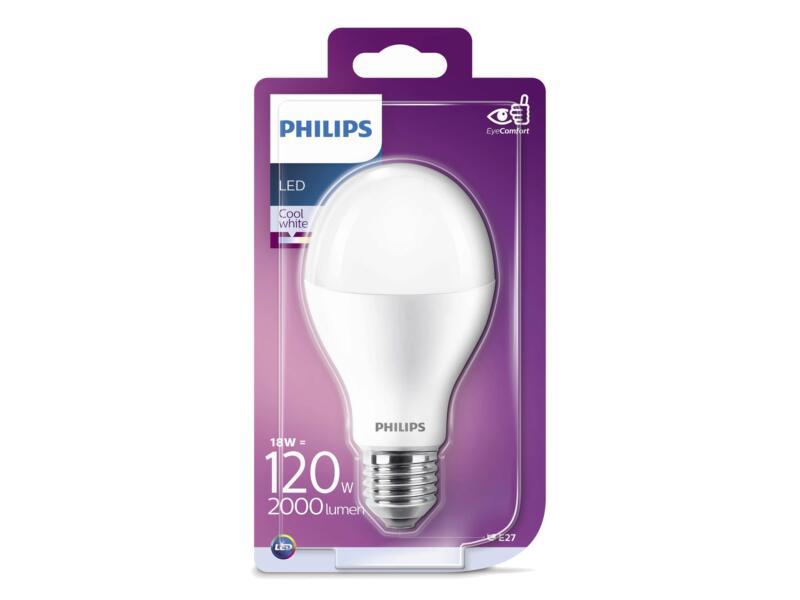 Philips Classic ampoule LED sphérique E27 18W blanc