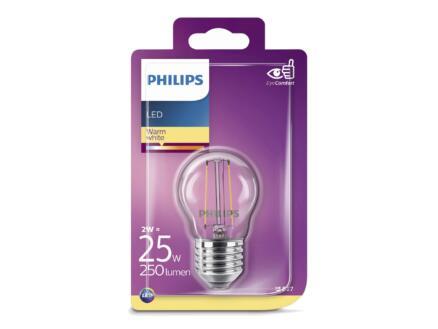 Philips Classic ampoule LED sphérique filament E27 2W