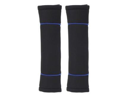 Carpoint Classic protège-ceinture set de 2 noir/bleu