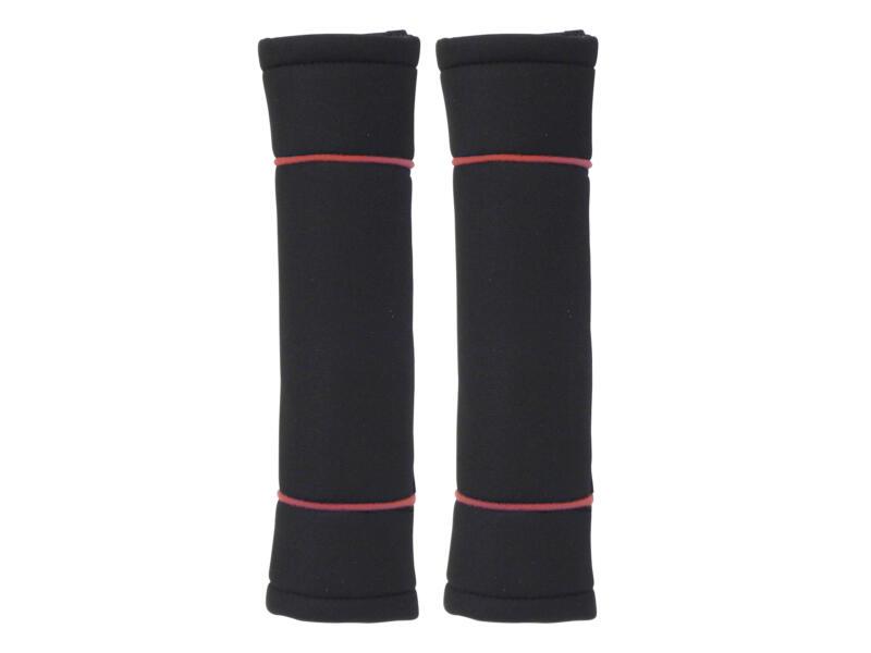 Carpoint Classic protège-ceinture set de 2 noir/rouge