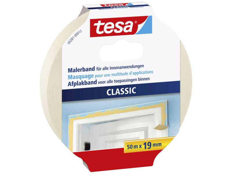 Tesa Classic ruban de masquage 50m x 19mm beige