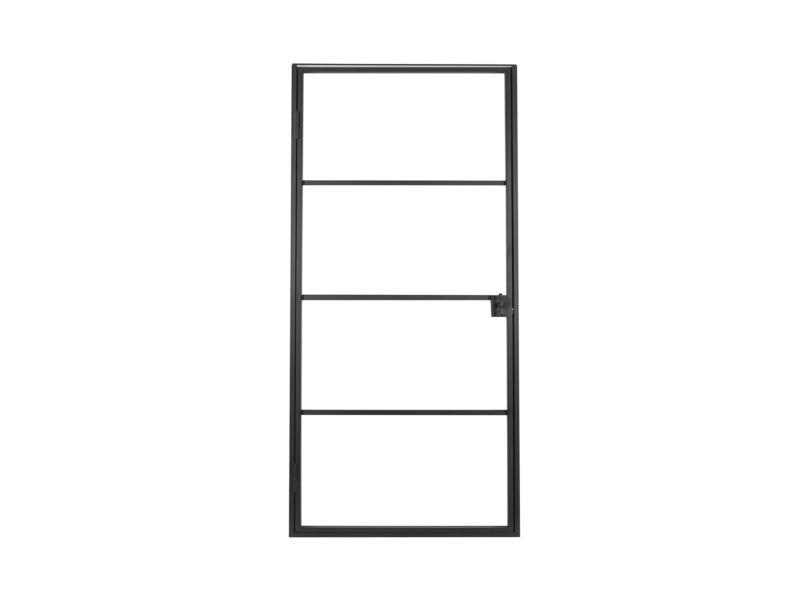 Solid Classico porte intérieure en acier droite 4 vitrages 201x83 cm