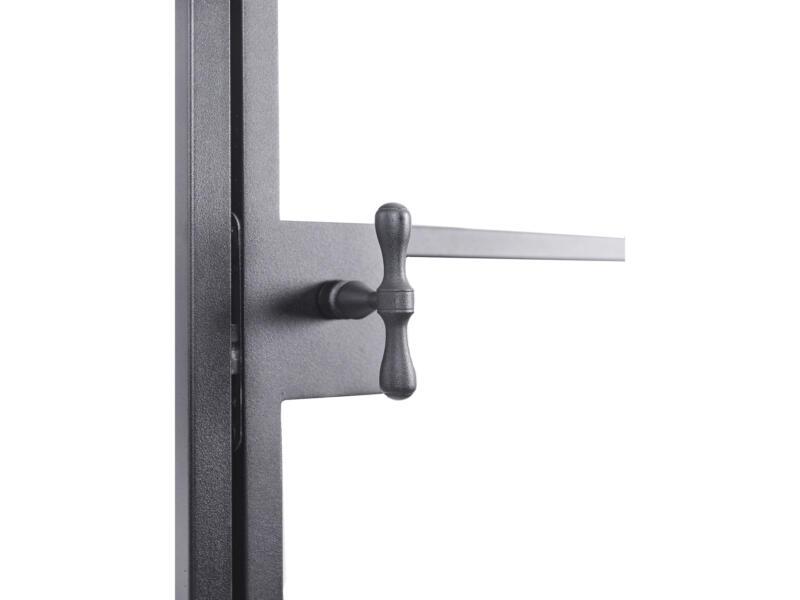 Solid Classico porte intérieure en acier droite 6 vitrages 201x83 cm