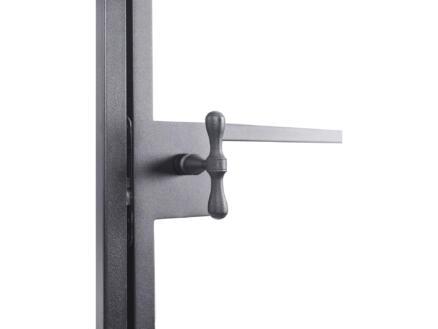 Solid Classico porte intérieure en acier droite 8 vitrages 201x83 cm