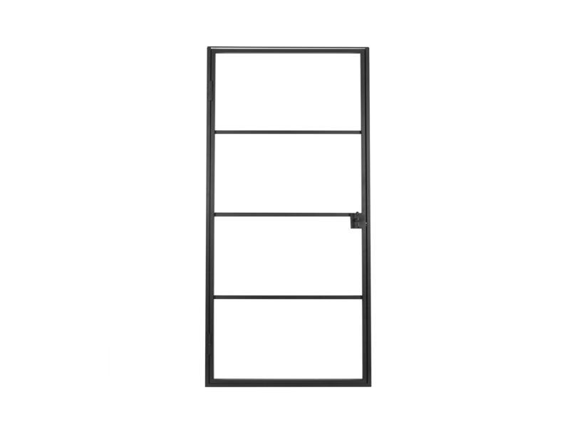 Solid Classico stalen binnendeur links 4 ruiten 201x83 cm