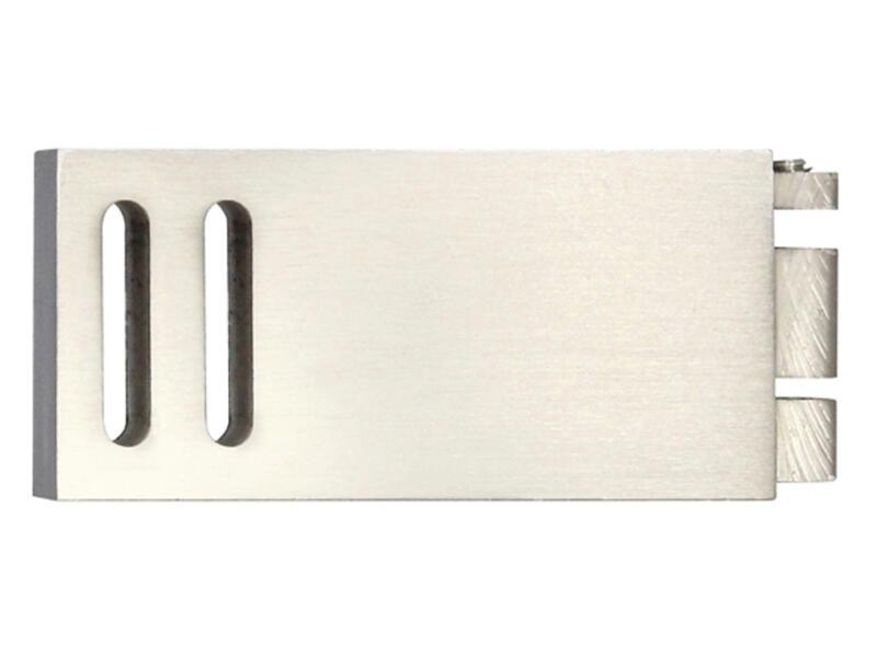 Clear eindstuk gordijnrails 32x11 mm inox look 2 stuks