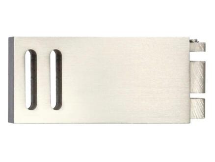 Clear embout pour rail de rideau 32x11 mm look inox 2 pièces