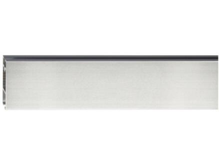 Clear gordijnrail 32x11 mm 260cm inox look