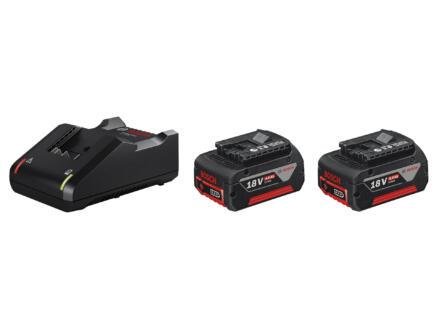 Bosch Click & Go batterie GBA 18V Li-Ion 4Ah + chargeur pack de base