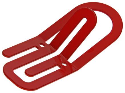 Clip crochet portemanteau 2 crochets rouge