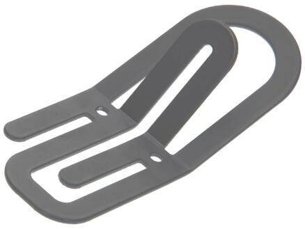 Clip kledinghaak 2 haken grijs